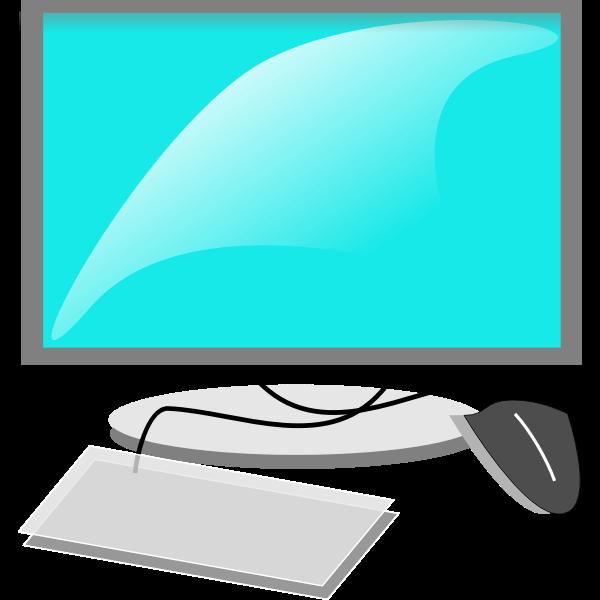 Mac like computer configuration vector image