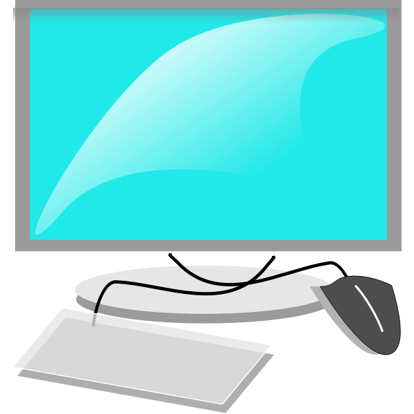 Mac like computer configuration vector image