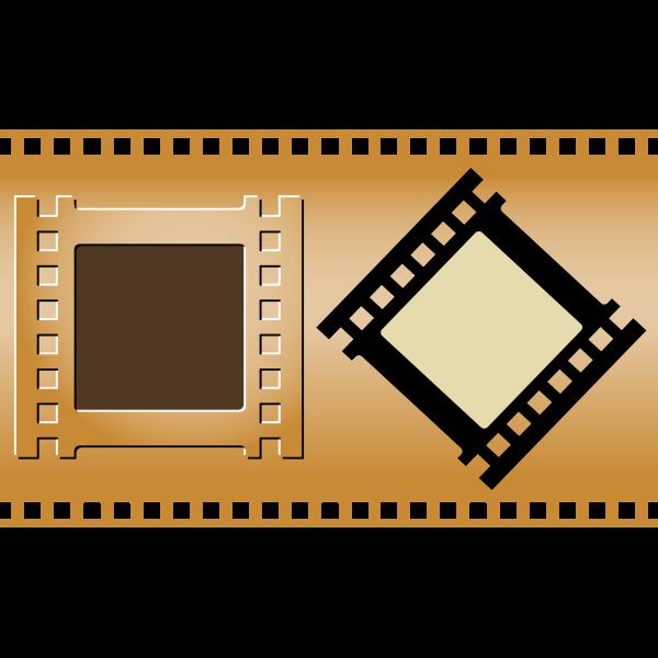 Three film strips vector image