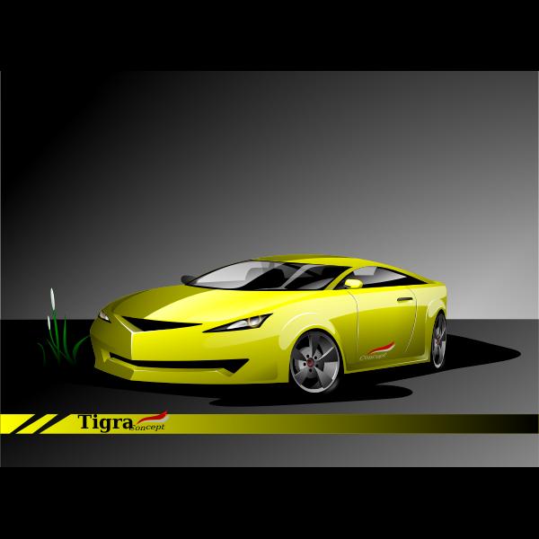 German sport car vector drawing