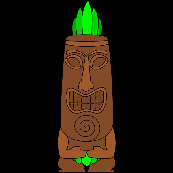 Tiki vector image