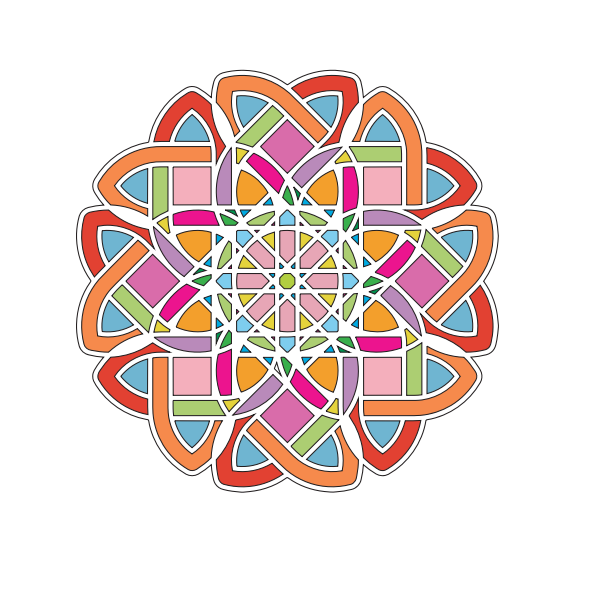 Vector illustration of abstract maze flower