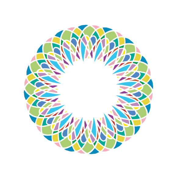 Vector illustration of pastel colored ring without black