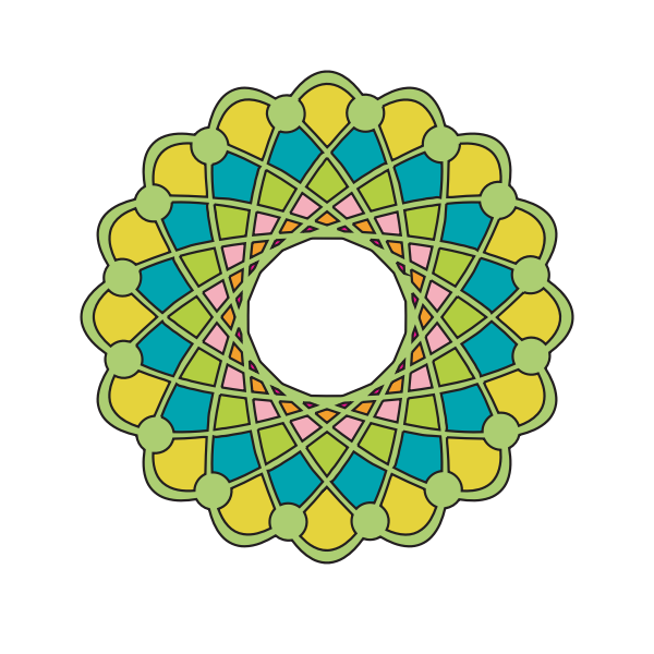 Vector drawing of green shaded ring