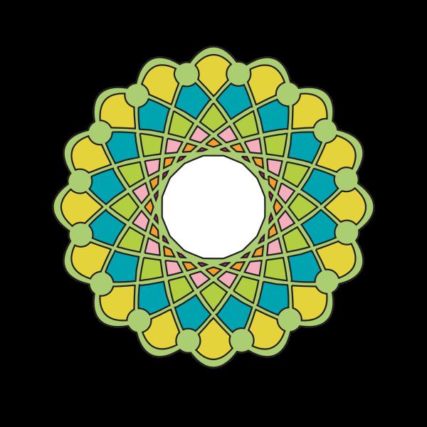 Vector drawing of green shaded ring