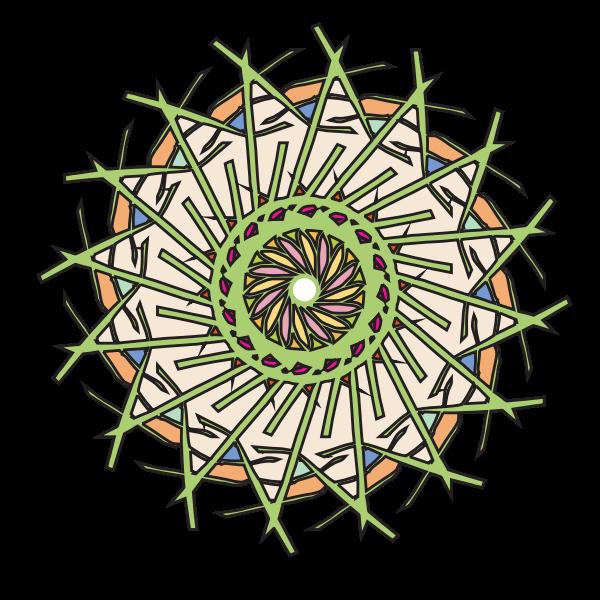 Vector graphics of spiky sticks flower