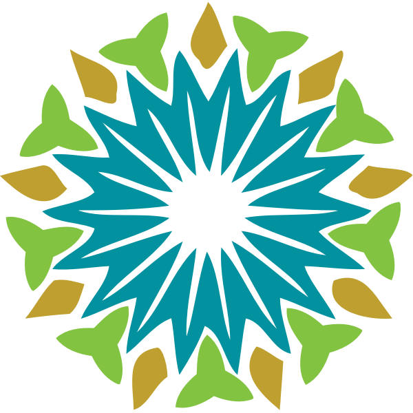 Vector illustration of star bud abstract flower