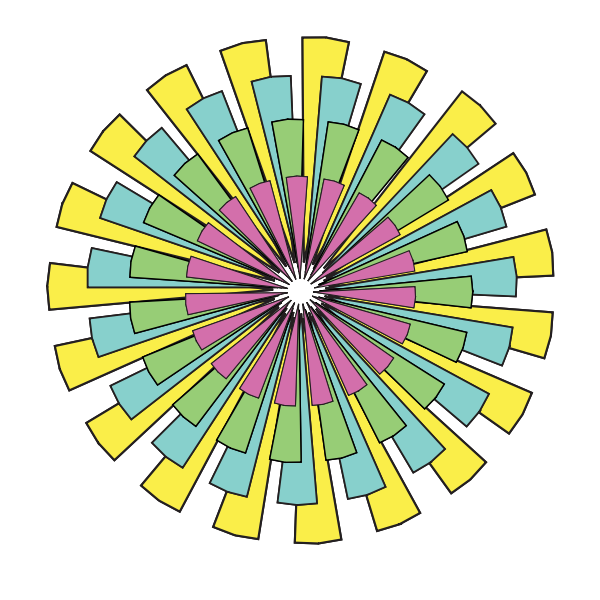 Vector clip art of abstract color wheel