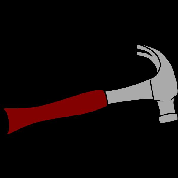 Carpenter hammer vector image