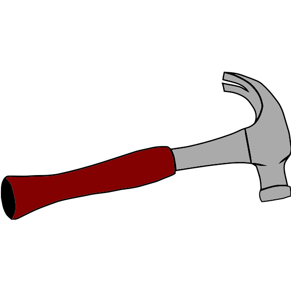 Carpenter hammer vector image