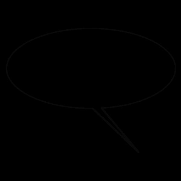 Comic caption balloon vector clip art