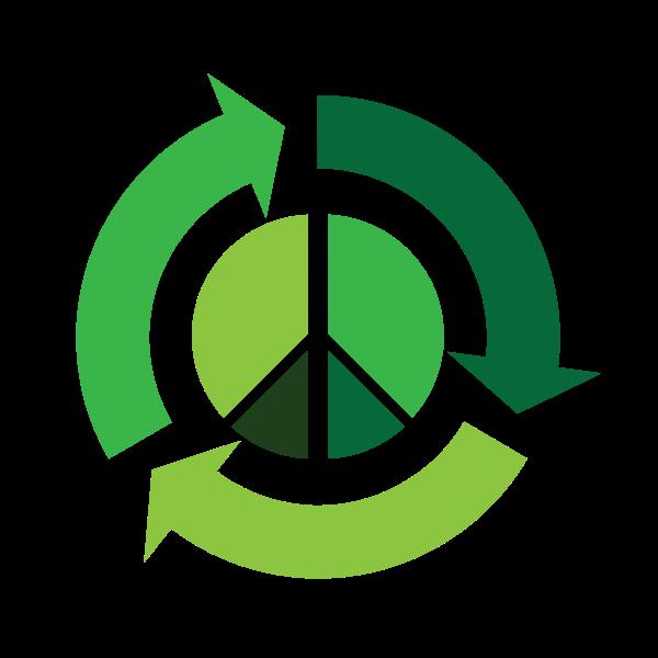 Eco peace vector icon