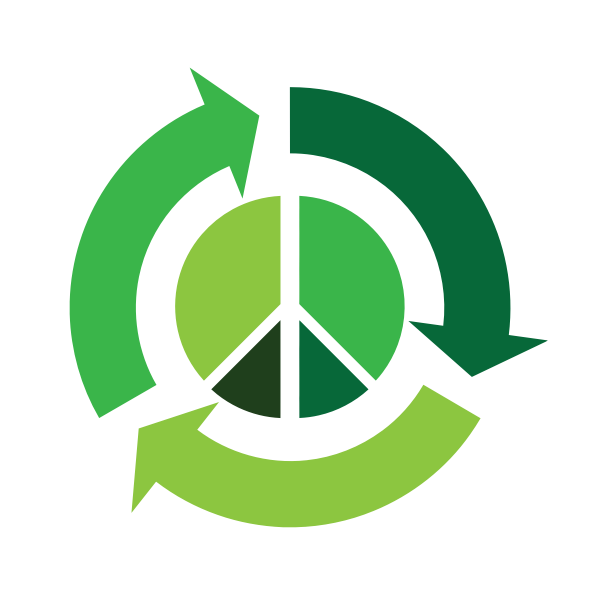 Eco peace vector icon