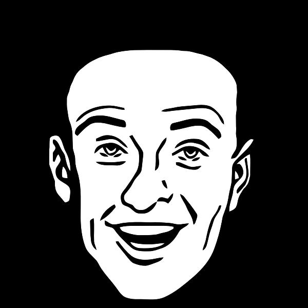 Vector drawing of comic man character profile avatar