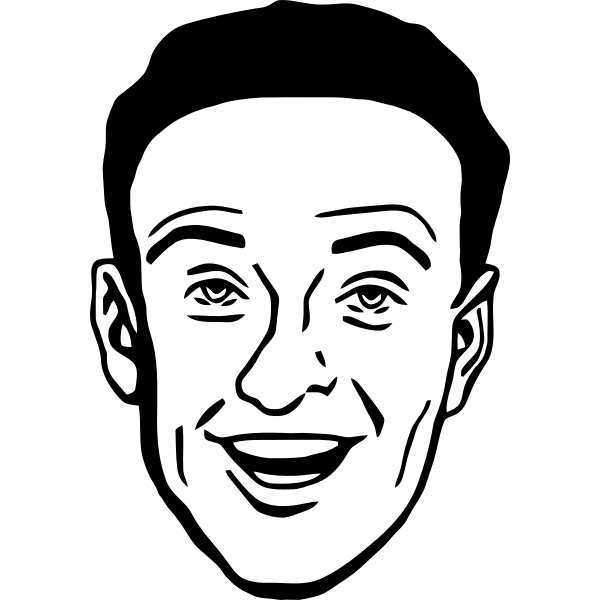 Vector drawing of comic man character profile avatar