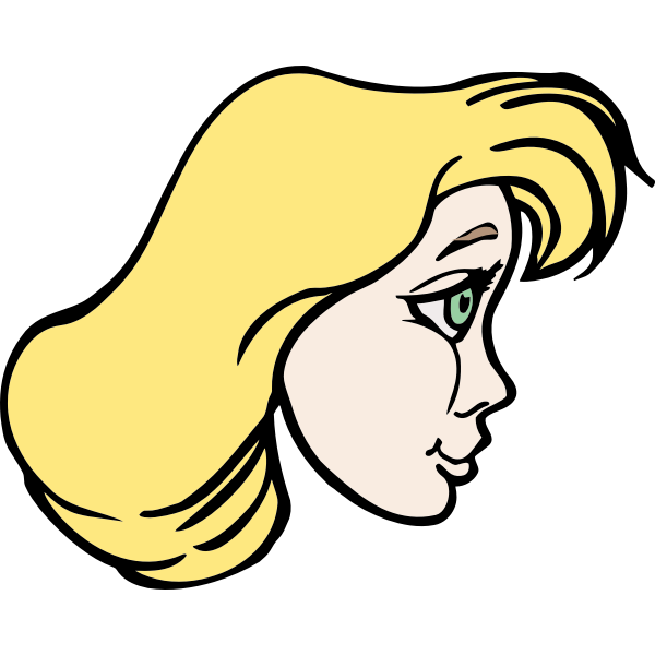 Side profile lady avatar vector image