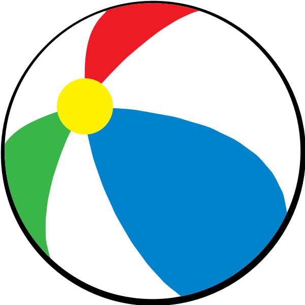 Beach ball vector drawing