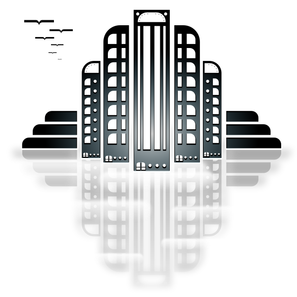 City Art Deco Vector Image
