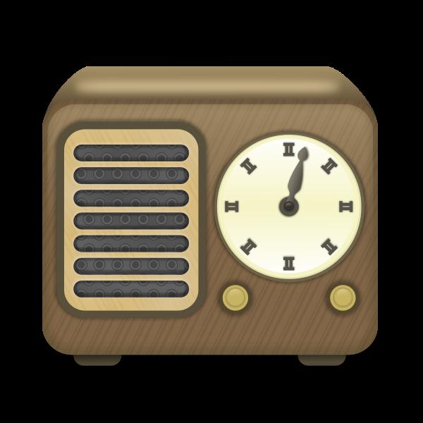 Wooden radio receiver vector clip art