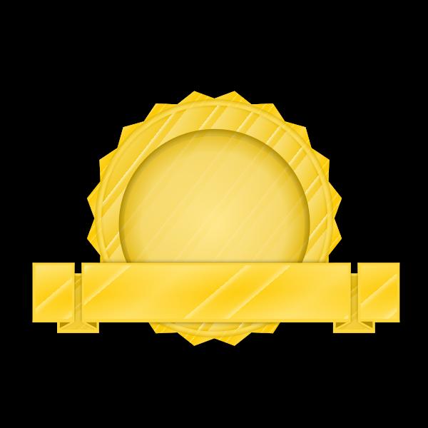 Golden seal vector image