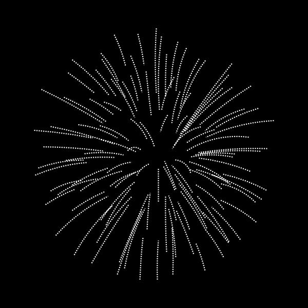Silver fireworks vector clip art
