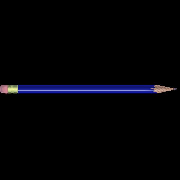 Blue HB pancil vector image