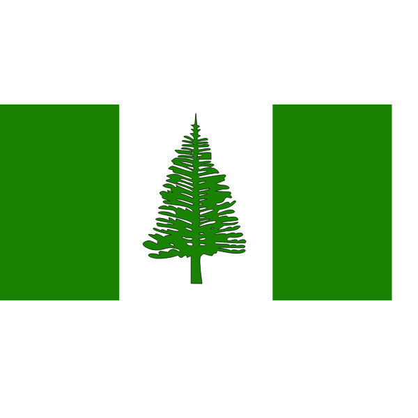 Vector image of flag of Norfolk Island