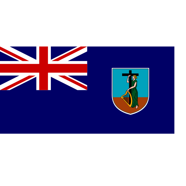 Flag of Montserrat vector illustration