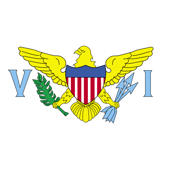 Flag of US Virgin Islands vector illustration