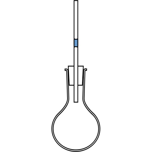 Vector drawing of round bottomed tube