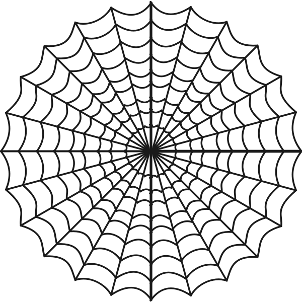 Vector clip art of stylized spider web