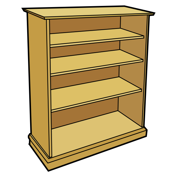 Brown book case image