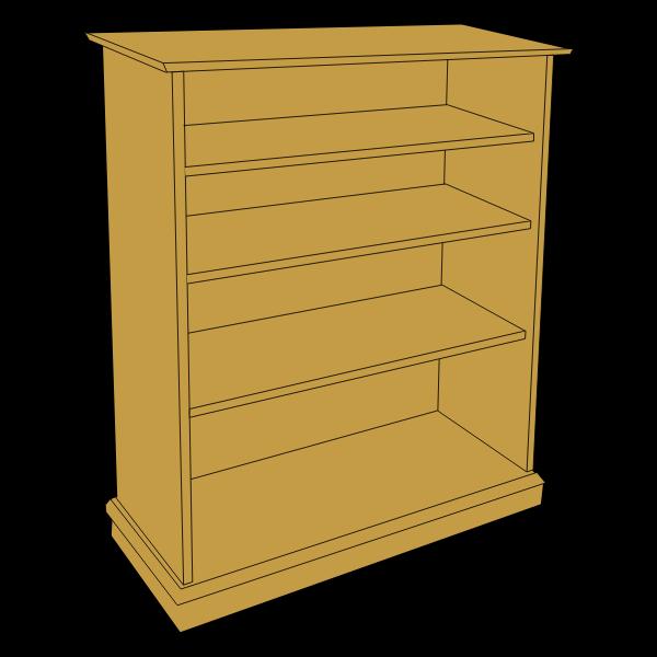 Wooden bookcase vector clip art