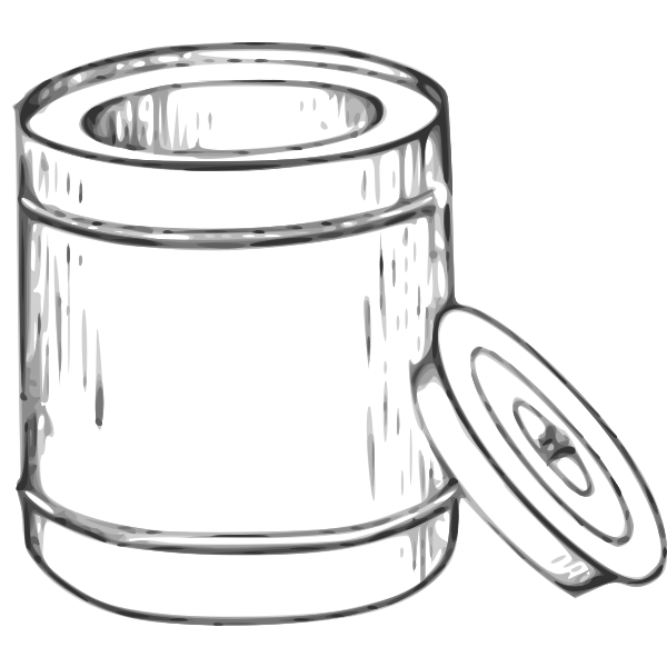 Bread bin vector clip art