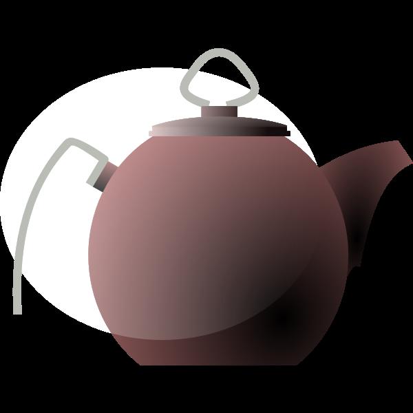 Vector illustration of kettle or tea pot   Free SVG