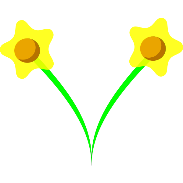 Daffodil flower vector image
