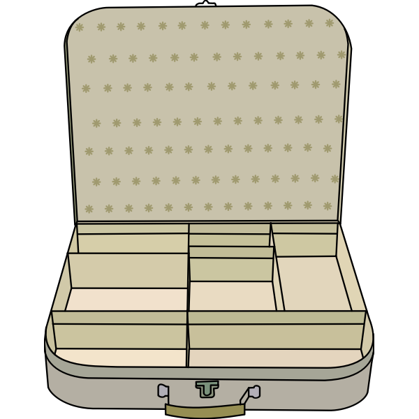 Suitcase vector clip art
