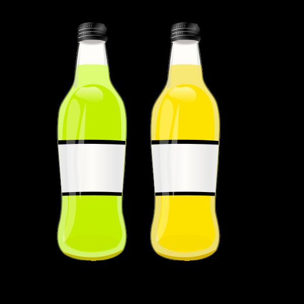 Vector image of bottles