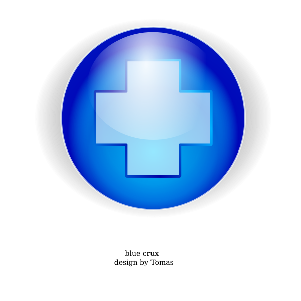 Blue cross in a circle vector image
