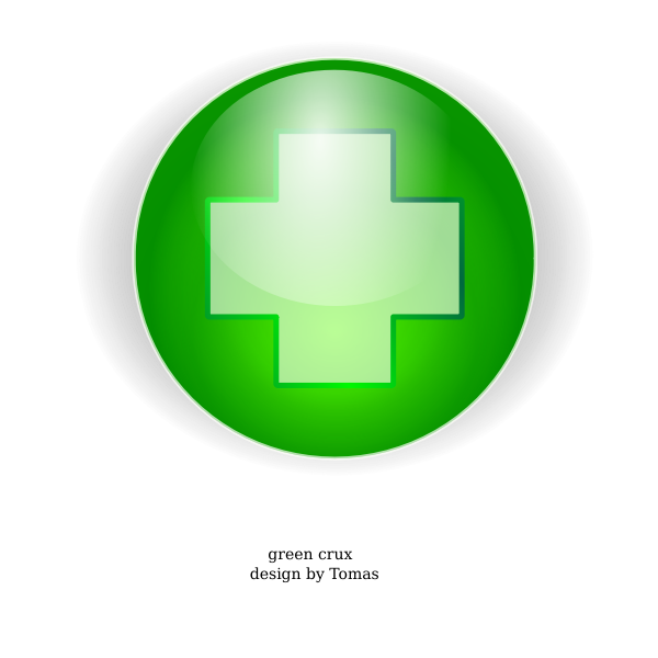 Green cross vector