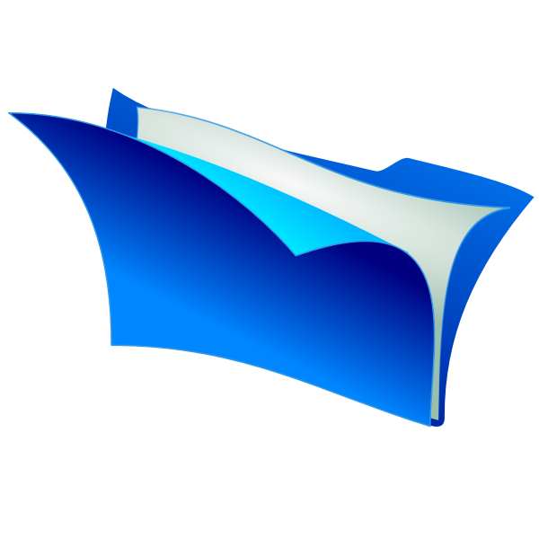 Office folder vector clip art