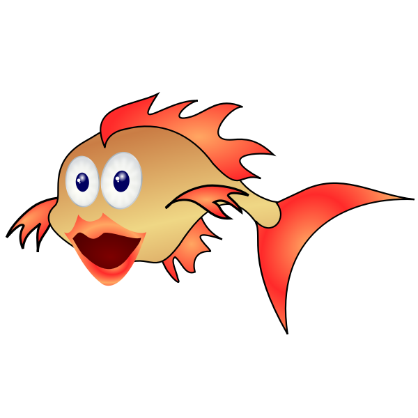 Cartoon surprised fish vector illustration