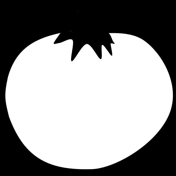 Tomato line art vector clip art