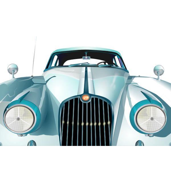 Realistic vector drawing of an old car