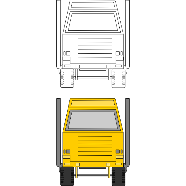 Tonka Toys Delivery Truck Vector Clip Art Free Svg
