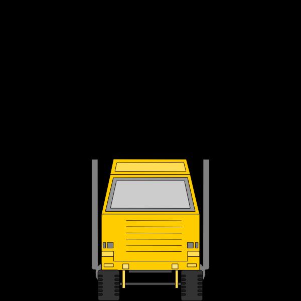 Tonka toys delivery truck vector clip art