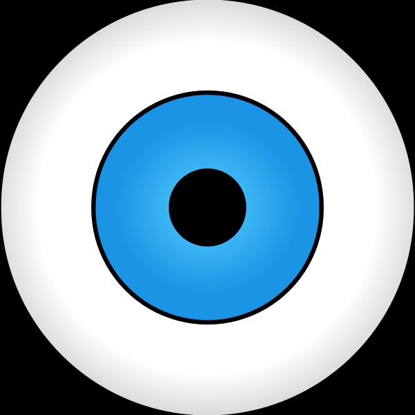 Vector drawing of blue eye iris
