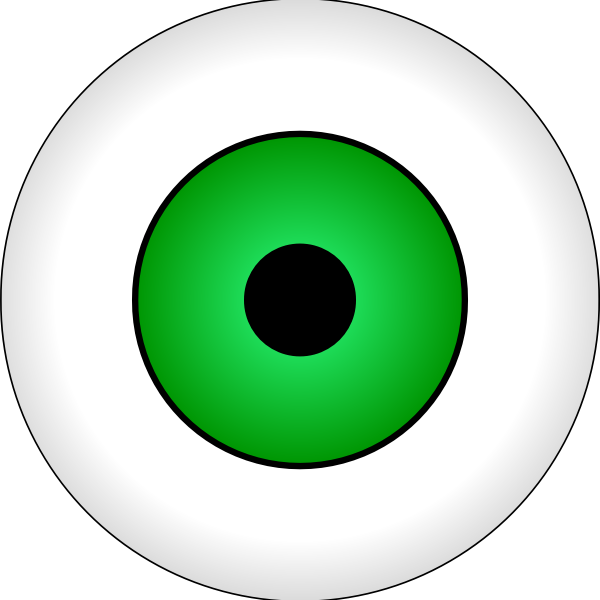 Vector illustration of green eye iris