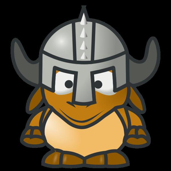 Gnu knight vector clip art