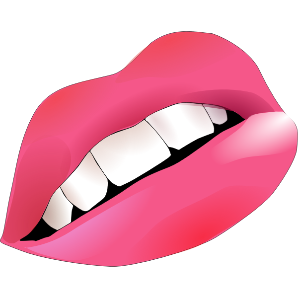 Vector graphics of lips